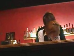 Mosaic Fuck beautiful receptionist just in the bar
