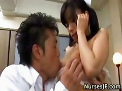 Fingered asian nurse
