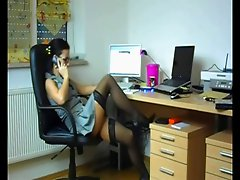Horny Hot Cheating Wife fucking her Lover at the Office