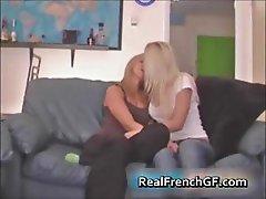 Slutty french girlfriends sharing hard part2