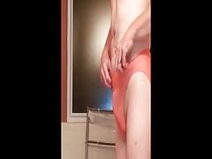 My Sissy Ass Paddled in Pink microfiber panties