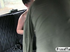 Big boobs amateur banged with the driver