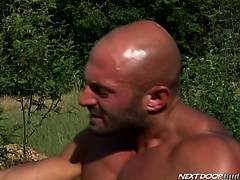 Muscle bound Canadian Max pounds sweet Marko's tight hole