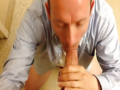 Amateur Gay Bathroom Blowjob