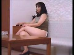 Fat ugly Asian amateur farting her ass off in a closeup