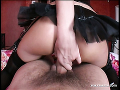 Filthy blond hoe Lisa Rose riding hard dick getting her ass hole drilled deep