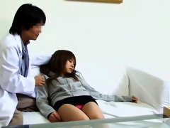 Medical fantasies fulfilled by japanese doctor in spy video