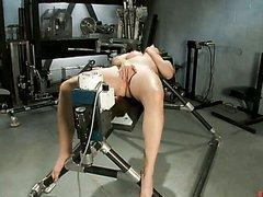 Teen Slut Screaming Her Way To Orgasm On Machine
