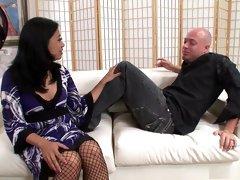 Horny pornstar Lucky Starr in best swallow, asian sex movie