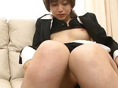 Oriental chick thrills with wet fellatio in bang