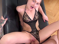 Tiffany Tatum bends over for a lucky stud's erected penis