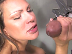 Stunning Chick Teri Weigel Gets Fucked By Gloryhole Cock