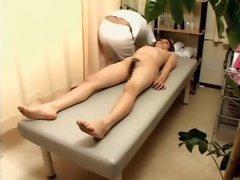 Japanese slut rides dick in hot voyeur massage clip
