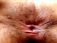 Hairy Wife Spreading Her Asshole
