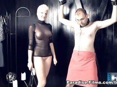 Exotic pornstar Melanie Muller in Incredible Femdom, Blonde adult clip