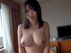 Yoshinaga Akane exposes her beautiful tits and amazing little beaver