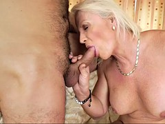 young fella enjoys nasty sex with sex hungry granny anett