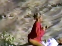 Voyeur watched a hot fuck on the sand