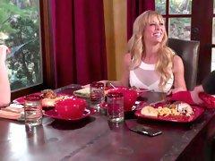 Kenna Activates Her Stepmoms Vibrating Panties During Dinner