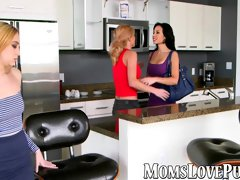 Two mature babes and one teen have hot lesbian fuck session