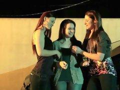 Incredible pornstars Samantha Ryan, Karlie Montana and Annabelle Lee in best brazilian, outdoor sex scene