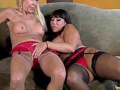 Ava Devine and Erica Lauren are a couple of orgasm craving ladies