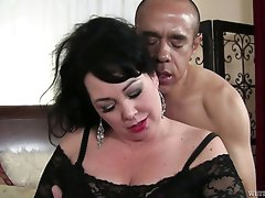Big bottomed BBW whore is really into fucking and she's got fine boobs