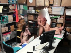 Petty theft Peyton and Sienna sucks officers cock
