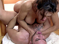 Jessy Dubai attacked in a shower by a cock craving lover