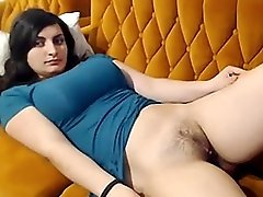 Beautiful shy girl from Indian rubs her sexy juicy pussy