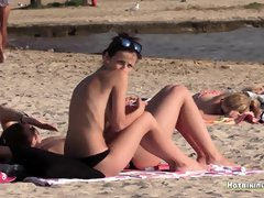 Bare-Breasted Bathing Suit Beach Magnificent Stunners Spycam HD Flick - PornGem