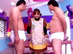 Best Japanese chick Tina Yuzuki in Incredible Babysitters, Handjobs JAV video