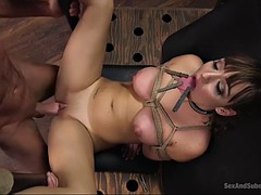 submissive babe charlotte cross gets tied up and fucked rough