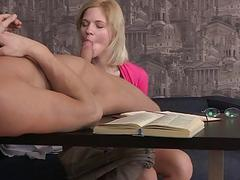 Delicious amateur chick gets her tight booty slamm