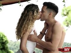 Natural tits pornstar anal sex and cumshot