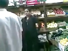 Grocer bangs his Pakistani wife from behind in the store
