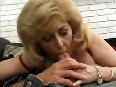 This randy granny is a talented cocksucker and she loves giving oral sex