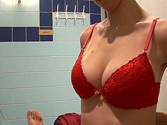 Hot POV porn with a sassy Lara Stevens in the shower