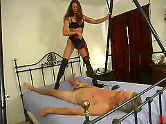 Kym Wilde beats Willie's ass and makes him eat her snatch