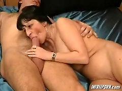Cougar Deep Throat Unexperienced Grandma