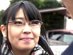Japanese Airi falls in love with her teacher and gives bj