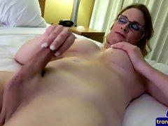 spex tranny masturbating in closeup