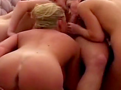 Pool Group Sex Three Cougar MILFs