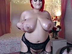 wet bbw dancing sex with lingerie