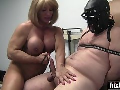 Kat punishes a neighb or's hard cock