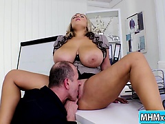 Krystal Swift fucks boss in the office