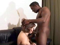 Amazing amateur Interracial, Big Tits porn scene