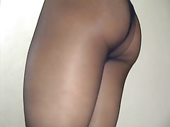 crossdresser pantyhose and black panties 064