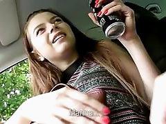 Beautiful teen Marina gets banged hard
