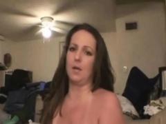 Sloppy Brunette Amateur Dirtbag Crack Whore Sucking Dick POV